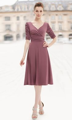 Ever-Pretty 3/4 sleeve dress, one dress suit for any occasion  #everpretty #occasion