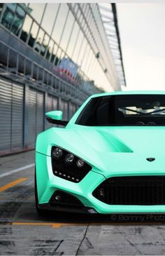 Aqua mint super car