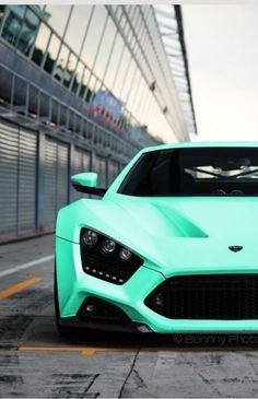 Aqua mint super car