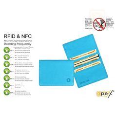 RFID / NFC Kartenetui Leslie Sky Blue, RFID Geldbörse, RFID Gelbeutel