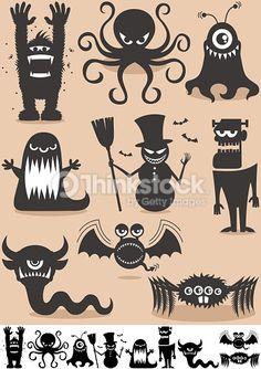 Vektorgrafik : Kontur-Monster