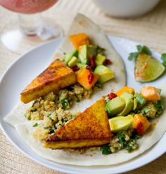These delicious tofu and citrus tacos are filled with great-for-you superfoods!