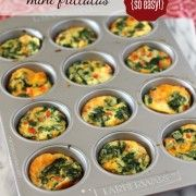 Mini Frittatas with Spinach and Red Pepper - Rachel Cooks