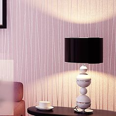 modern striped wallpaper rolls of brief gray white beige pink mural 3d vinyl pvc glitter embossed