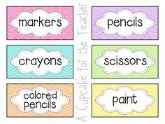 A Cupcake for the Teacher: Classroom Set-Up Starter Kit! {Chevron Theme Bundle}