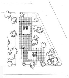 Mies van der Rohe; Lake Shore Drive, ground floor plan, Chicago, 1948-51