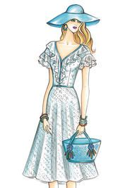 Sewing patterns for fashion clothing, crafts and home decorating. Dress sewing patterns, evening and prom sewing patterns, bridal sewing patterns, plus costume and cosplay sewing patterns. Frock Patterns, Vogue Dress Patterns, Vogue Sewing Patterns, Edwardian Dress, Dress Sketches, Fashion Design Sketches, Pattern Fashion, African Fashion, Designer Dresses