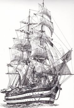 Boat drawing Ship drawing Ship paintings Sailing ships Boat Old sailing ships - by Frammentidicolore on Etsy - Boat Sketch, Ship Sketch, Pirate Ship Drawing, Boat Drawing, Pencil Art Drawings, Art Sketches, Tattoo Barco, Old Sailing Ships, Architecture Concept Drawings