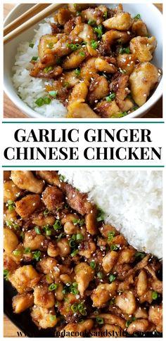 Chinese Garlic Chicken, Garlic Ginger Chicken, Soy Chicken, Chinese Chicken Recipes, Chicken Flavors, Chicken With Garlic Sauce Recipe, Sesame Ginger Chicken Recipe, Chinese Style Chicken, Cheap Chicken Recipes