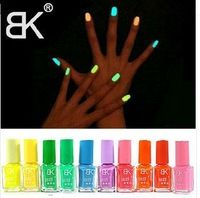 10pcs/lot 2015 New Hot Sale Colors Fluorescent Luminous Neon Glow In the Dark Varnish Paint Nail Art Polish