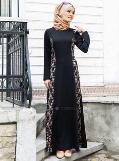 Dressy Abaya Fashion, Modest Fashion, Fashion Outfits, Batik Dress, Lace Dress, Modern Islamic Clothing, Muslim Gown, New Hijab, Moslem Fashion