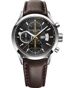 RAYMOND WEIL - Freelancer - Automatic Chronograph - Steel on Leather Strap with Black Dial - Style: 7730-STC-20021