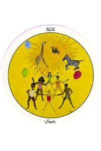 The Sun Tarot Card - Motherpeace Tarot Deck List Of Tarot Cards, The Sun Tarot Card, Power Trip, State Of Grace, Tarot Card Meanings, Tarot Spreads, Major Arcana, Tarot Reading, Tarot Decks
