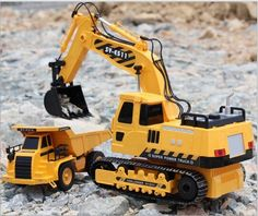 76.50$  Watch here - http://ali6u6.worldwells.pw/go.php?t=32673210976 - The best kids toy large RC car remote control engineering truck excavator wireless rc excavator toy car digging machine boy toys