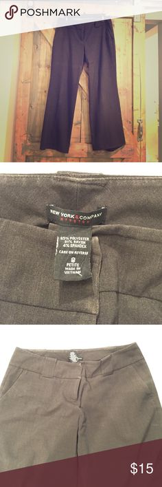 Brown trouser dress pants Bootcut brown dress pants size 8P. Worn, but well taken care of. Nice pants for work. Lost weight and don't fit. New York & Company Pants Boot Cut & Flare