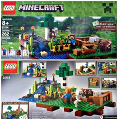 The Minecraft Lego The Farm set is by far one of my sons favorite because he loves all things Minecraft and Lego. The Minecraft Lego The Farm comes with minigs and animals. Cool Toys For Boys, Cool Gifts For Kids, Best Kids Toys, Gifts For Boys, Minecraft Toys For Kids, Hockey Crafts, Top Toys, Build Your Own, Handmade Items