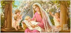 Madonna with Child Art Print by Giovanni at Art.com