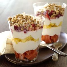 Tropical Fruit Parfaits | Elegant Foods and Desserts