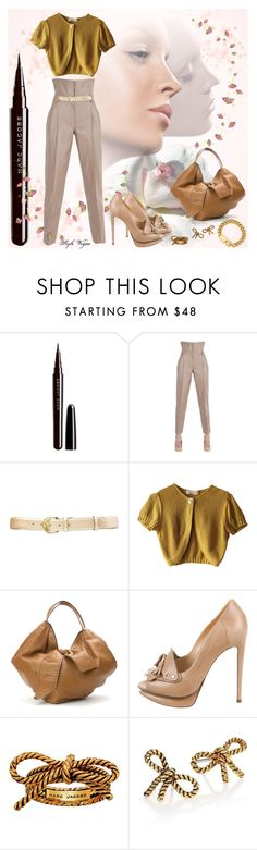 """""""Super chic"""" by lamipaz ❤ liked on Polyvore featuring Marc Jacobs, Trussardi, Lauren Ralph Lauren, Schumacher, Valentino, Nicholas Kirkwood and Marc by Marc Jacobs"""