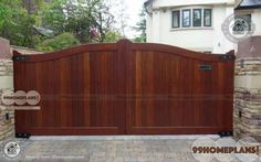 Grand and Luxurious Simple Gate Design For House Ideas & Create your Dream Home Gates with Latest Cute Wooden Gates Collections, Low Cost Attractive Designs Iron Main Gate Design, Home Gate Design, Front Gate Design, House Design, Simple Gate Designs, Wooden Gates, Front Gates, Gate House, Maine