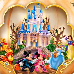 Mickey And Minnie Love, Mickey Mouse And Friends, Cute Disney Pictures, Disney Pics, Disney Mural, Disney Art, Disney Halloween, Halloween Party, Disney Clipart