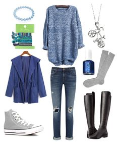 """""""Sweater Gala {three}"""" by lilyschaefer on Polyvore featuring Converse, Bling Jewelry, Vera Bradley, WithChic, J Brand, MICHAEL Michael Kors and Essie"""