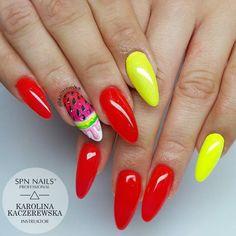 TOP 20 Energetycznych i Pełnych Blasku Inspiracji na Letnie Paznokcie Manicure, Nails, Nail Bar, Finger Nails, Ongles, Polish, Manicures, Nail Manicure, Nail