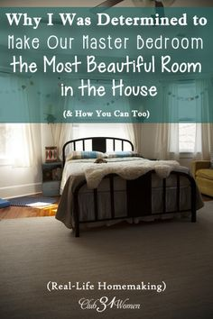 Is your bedroom a beautiful place of refuge? Somewhere to find rest and refreshment? Here's how you can easily turn your master bedroom into a lovely mini-retreat!