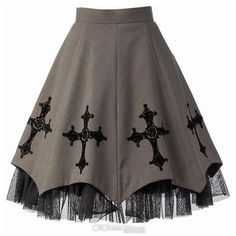Moi-même-Moitié Rose and Cross Print Skirt ($311) found on Polyvore