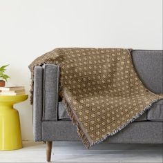 Coffee and Cream Throw Blanket. $81 and save 15% with code ZAZZSENDLOVE at checkout (or see current sale).  Click the photo for item details. #intricatedesign #blankets #homeaccents
