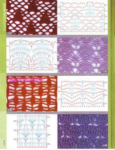 Muestras puntos calados crochet - Imagui