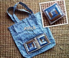 Patchmake. Blog de patchwork: Bolsa plegable Pouch, Wallet, Patchwork Bags, Denim Bag, Reusable Bags, Small Bags, Shopping Bag, Purses, Sewing