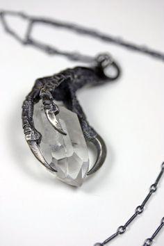 尖锐深刻-从未降临的不幸幻化成为我紧握的水晶-纯银乌鸦爪