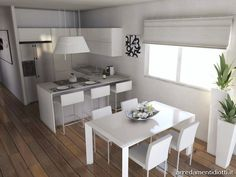 Home decored minimalist small houses layout ideas Small House Layout, House Layouts, Kitchen Interior, Kitchen Design, Cottage Kitchens, Kitchen Models, Bars For Home, Apartment Living, Home Renovation