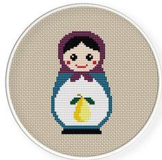 Instant download,free shipping,Cross stitch pattern, Cross-StitchPDF,Russian Doll ,Matryoshka  Babushkas,zxxc0120