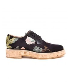 Floral Fabric Brogues