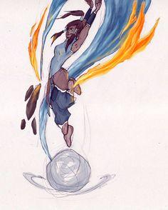 The Legend of Korra. by on deviantART Avatar Korra Korra Avatar, Team Avatar, Avatar World, Avatar Series, Avatar The Last Airbender Art, Iroh, Fire Nation, Legend Of Korra, Manga