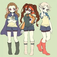 Endou, Gouenji, and Kidou | GENDER BENDERRR! |