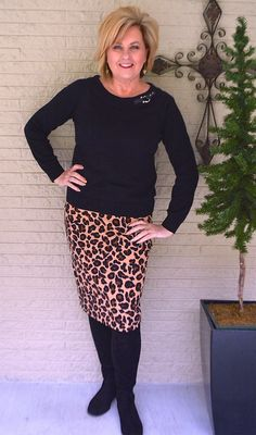 50 IS NOT OLD | WEARING LEOPARD PRINT AFTER 40 | Simple | Pencil Skirt | Fashion over 40 for the everyday woman