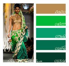 emerald wedding color palette