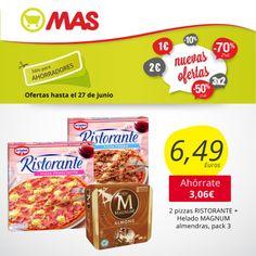 ¿Sabes con quién vas a disfrutar del partido de la #LaRoja? Aquí te proponemos un plan inmejorable: 2 pizzas Buitoni con un pack de 3 de Magnum de almendra, por sólo 6,49€! Para chuparse los dedos!