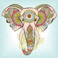 Resultado de imagen para elefante hindu para imprimir