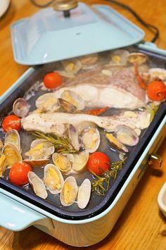 ホットプレートで熱々♡楽々♪簡単☆アクアパッツァのレシピ