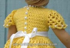 ABC Knitting Patterns - American Girl Doll Princess Dress.