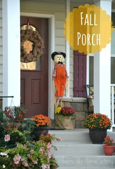 Simple Fall porch - Whats Ur Home Story