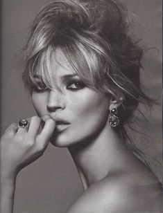 Kate Moss, photo by Peter Lindbergh                                                                                                                                                                                 More