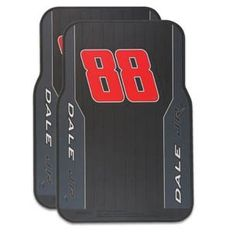 "Dale Earnhardt Jr Car Floor Mats by NASCAR. $99.99. A stylish way to protect the flooring of your car's front seats. Bright driver graphics on a heavyweight rubber mat. Measures 17"" x 25"". Two to a pack. Please note: Express Delivery is not available on this item."