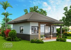 Home design plan with 2 bedrooms - Home Plans Model House Plan, My House Plans, Small House Plans, House Floor Plans, Two Bedroom House Design, Three Bedroom House Plan, Bungalow House Design, Cottage Design, Beautiful Small Homes