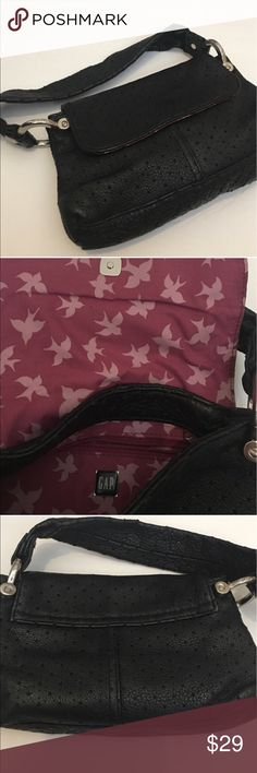"""GAP Leather Black Purse Soft leather gap mini purse. Black with stars etched. Silver hardware 8 1/2 inches wide X 4 inches. Strap 4"""" high. Great condition. Make an offer ❤️ GAP Bags Mini Bags"""