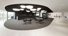 Eneco headquarter by Hofman Dujardin Architects & Fokkema, Rotterdam office design Office Space Design, Workplace Design, Office Interior Design, Corporate Design, Office Spaces, Retail Design, Interior Ideas, Corporate Interiors, Office Interiors